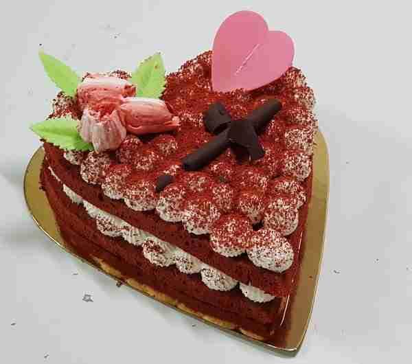 Tarta corazón Red Velvet
